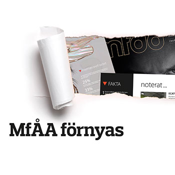 Bild på omslaget: MfÅA förnyas